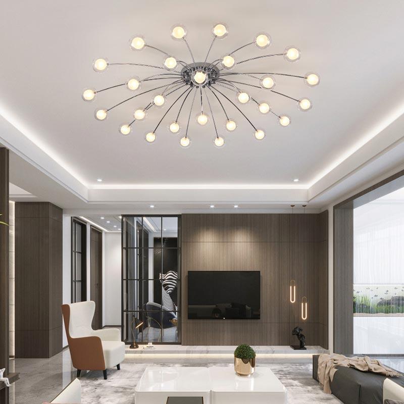 Moderne verre Design Led lustres salon cuisine Bedoom luminaires décor éclairage à la maison Chrome métal lampe G4 Lustre