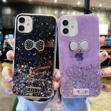 Glitter Case For Huawei Honor 7A 7C 7X Case Silicon 20 Nova 5T P10 P20 Lite Mate 10 20 9 30 40 Pro Butterfly Cover Phone Bumper