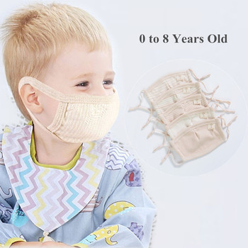 0-8 Years old Childern Kids Mouth Face Mask Baby Dustproof Cotton Fabric Protective Flu Mask Resuable fog Dust proof Masks
