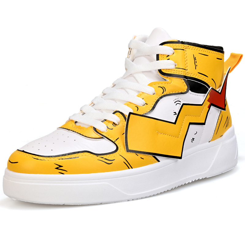 Multicolour Classic Sneakers Pikachu Cartoon Men High Quality Casual Shoes Comfortable Outdoor Walking Shoes Tenis Masculino