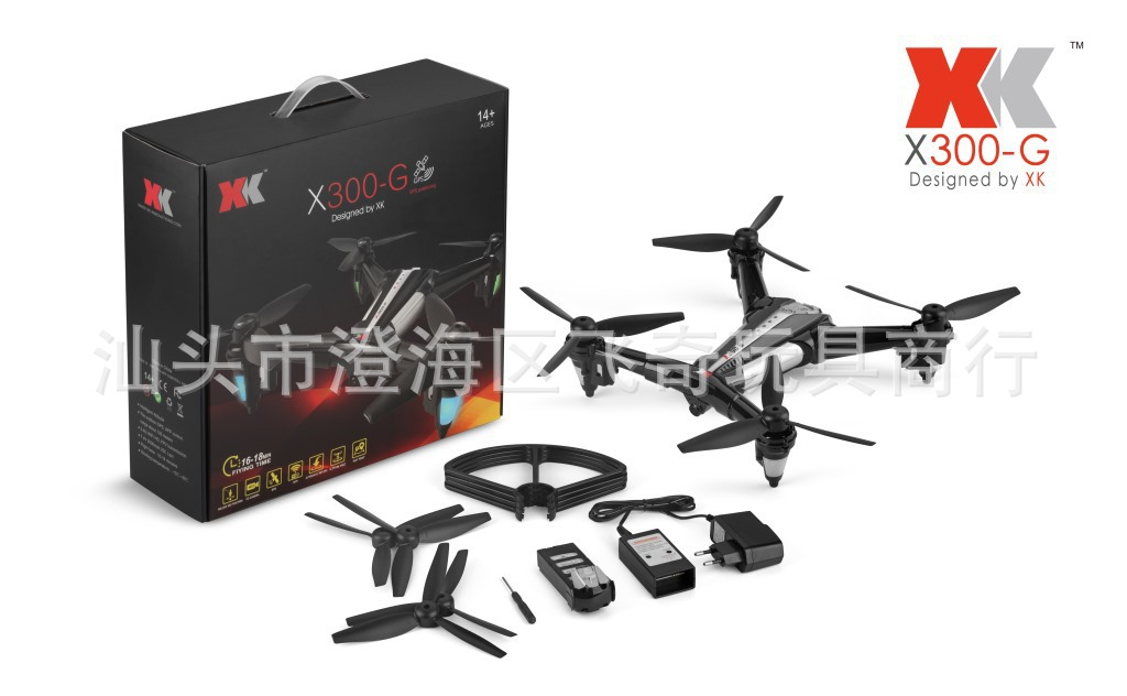 Weili XK X300-g GPS Positioning Quadcopter High Strength Composite materials Unmanned Aerial Vehicle Trefoil Paddle Large Remot