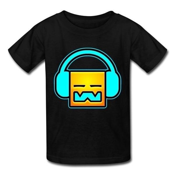 Camiseta masculina dj geometry dash