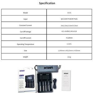 Image 5 - Xtar batery carregador vc8 vc4 vc4s carregador usb display para aaa aa li ion batteris 10400 26650 20700 21700 18650 carregador de bateria