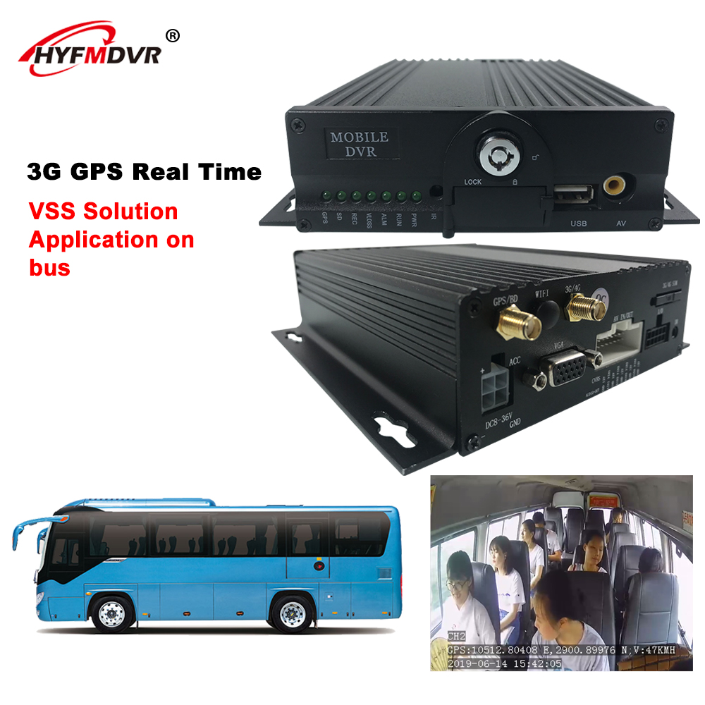 Hyfmdvr 4ch 3g Gps 1080p Free Client Software H 264 Mobile Dvr Bus Truck Dvr Dash Camera Aliexpress