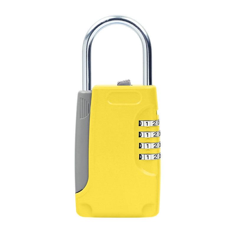 Security Metal Key Safe Password Lock Hidden Key Storage Box Free Installation Padlock Style Secret Box For Home Travel Luggage