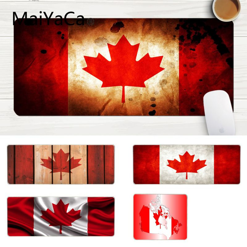 MaiYaCa Hot Sales Canadian Flag Large Mouse Pad PC Computer Mat Laptop Gaming Lockedge Mice Mousepad Gaming Mouse Pad