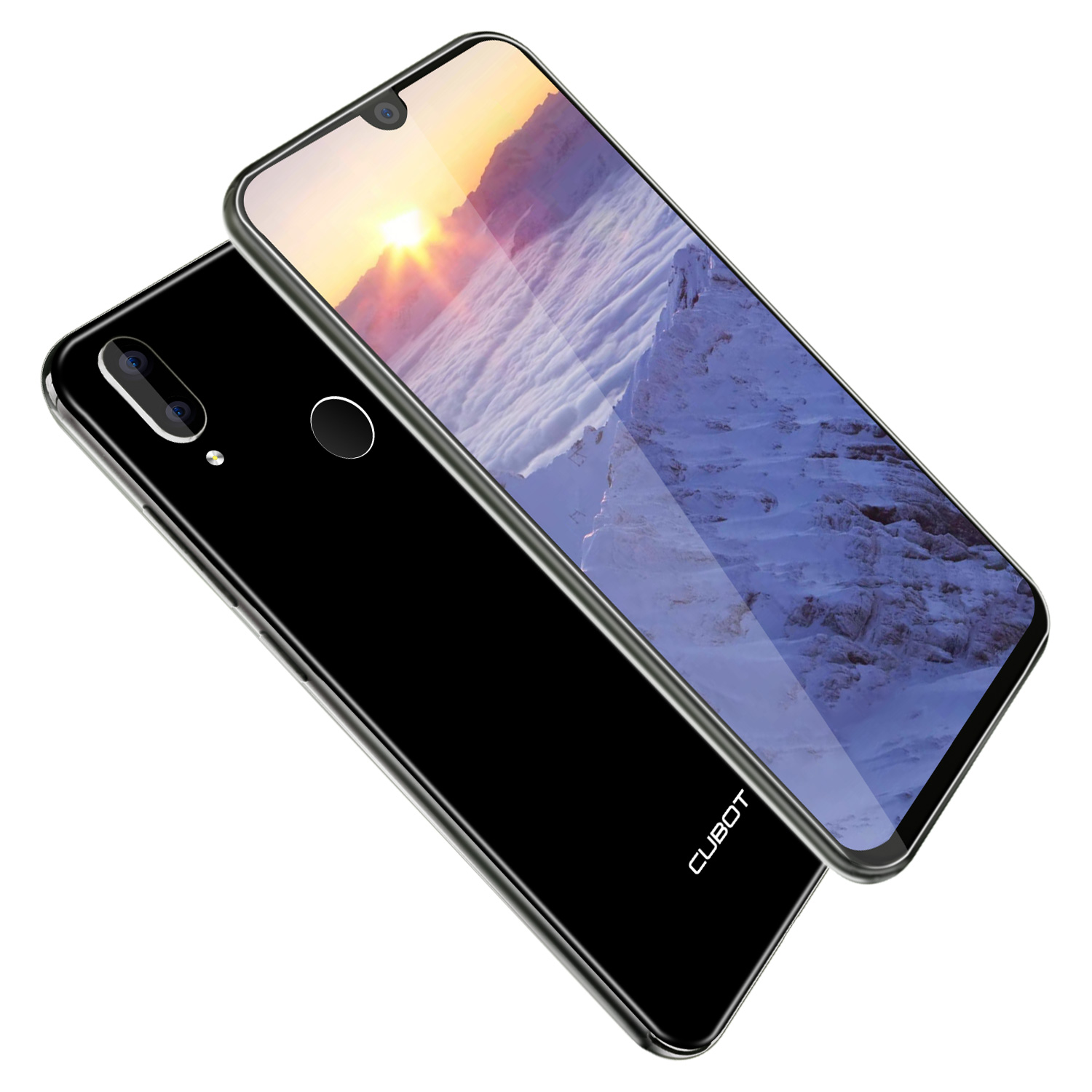Cubot R19 3GB+32GB Smartphone 5.71'' Android 9.0 Quad Core Fingerprint Water Drop Screen Face ID Mobile Cell Phone - 3