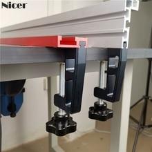 2 шт. набор g-зажимов для 45 мм Т-образной дорожки 75 мм забор профессиональный универсальный G зажим крепления Деревообрабатывающие инструменты