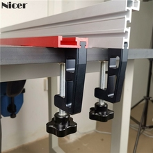 2 adet Set g kelepçeleri için 45mm t track 75mm çit profesyonel evrensel G klip fikstür ağaç işleme aletleri