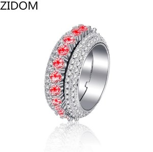 Men/Women Hip hop iced out bling Rings AAA Zircon Rotatable Rings High quality Charm Ring Hiphop jewelry gifts Drop shipping