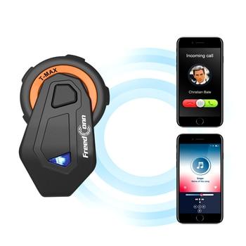 2000M 6 Riders Motorcycle Helmets Intercom Bluetooth Headsets Group Talking FM Radio Bluetooth 4.1 120KM/H upgrade T-MAX E