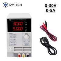 IVYTECH 4Digits DC Lab Bench Power Supply 30.00V 5.000A Adjustable Switching Variable Regulated Power Modul Power Source IV 305D