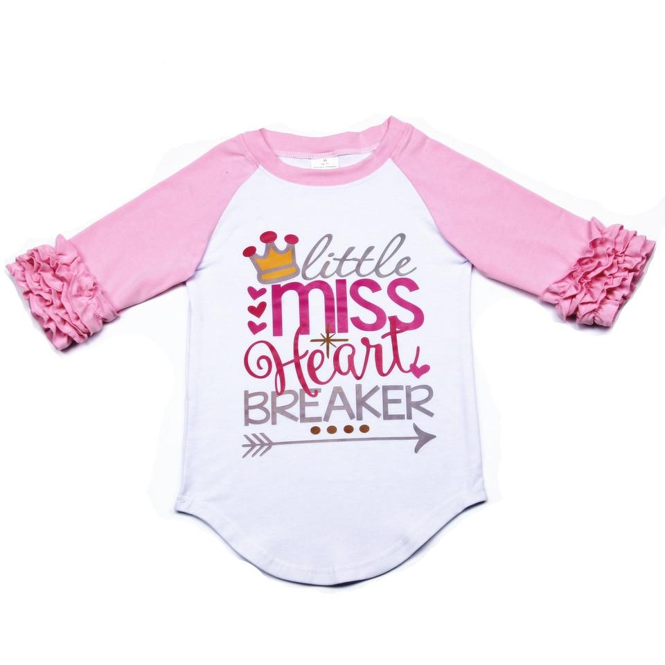 Miss heart breaker kids valentine shirt