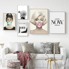 Canvas Painting Balloon Wall-Picture-Decor Letters Wall-Art Living-Room Marilyn Monroe