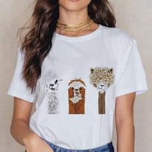 Alpaga – t-shirt à col rond pour femmes, joli, Punk, Design attrayant, à la mode, printemps et été