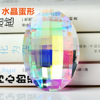 Camal 1 sztuk 63mm 76mm AB kolor kolorowe jajko spadek kryształowe pryzmaty wisząca lampa wisząca lampa części Suncatcher Decor tanie i dobre opinie CN (pochodzenie) Kryształowy żyrandol Crystal Egg Drop Pendant 63mm 76mm 1 hole AB Color Coloful Electroplating 1pcs