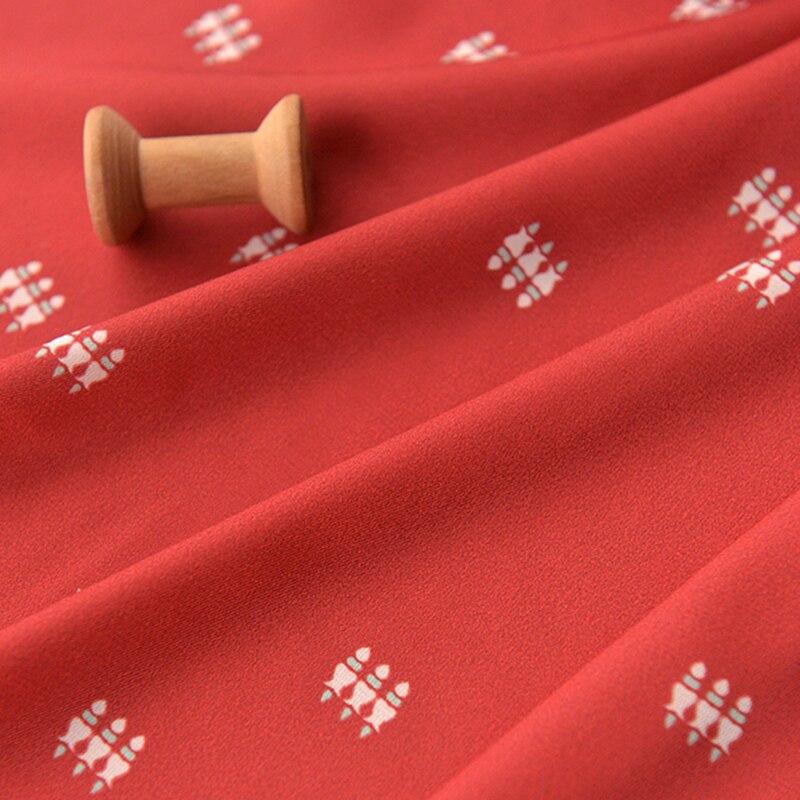 Dark Cochineal Red Tufted Chiffon Fabric Silky Fine Fabrics