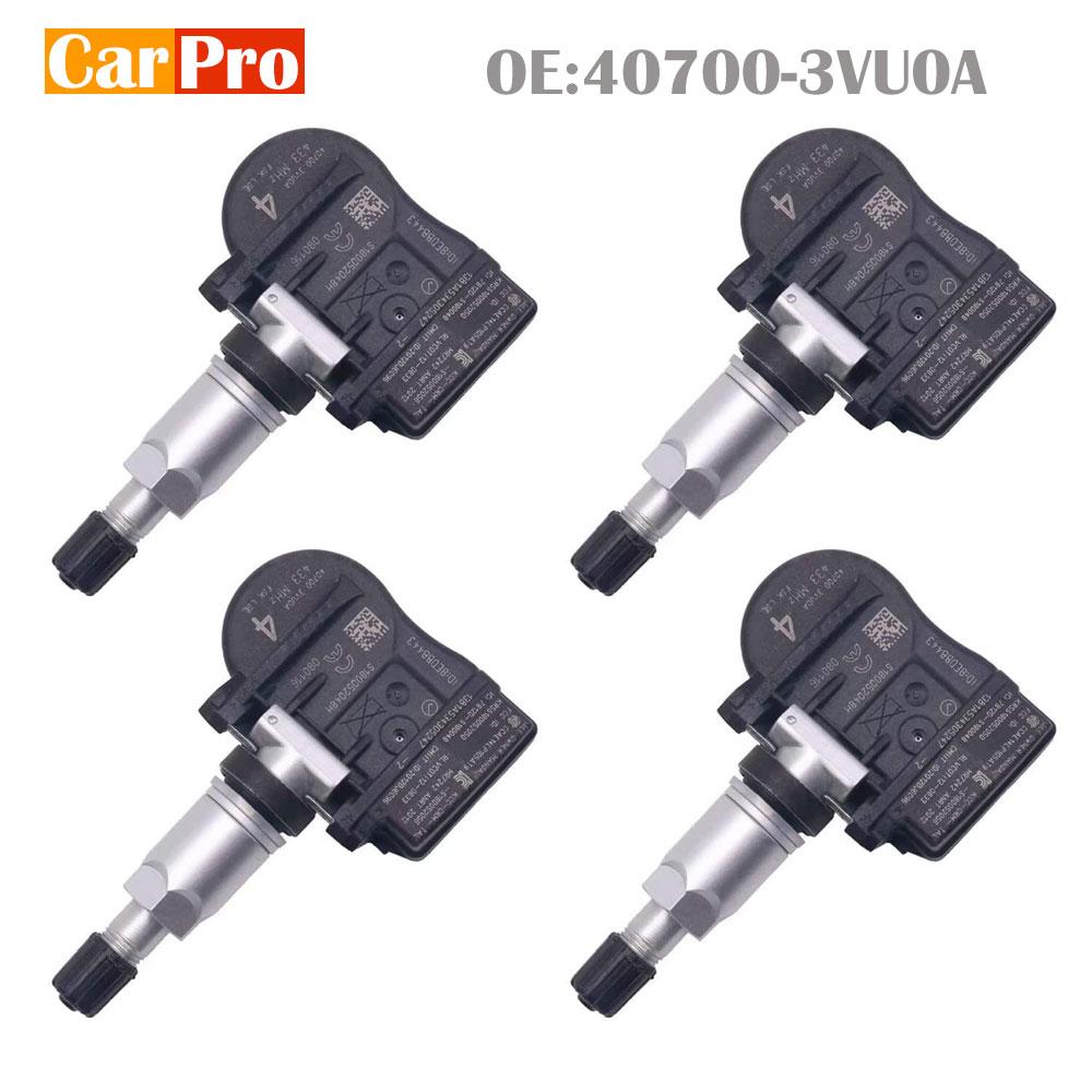 4 Pieces Tire Pressure Sensors TPMS 40700-3VU0A For Renault ESPACE V KOLEOS  For Nissan  QASHQAI TIIDA 433Mhz