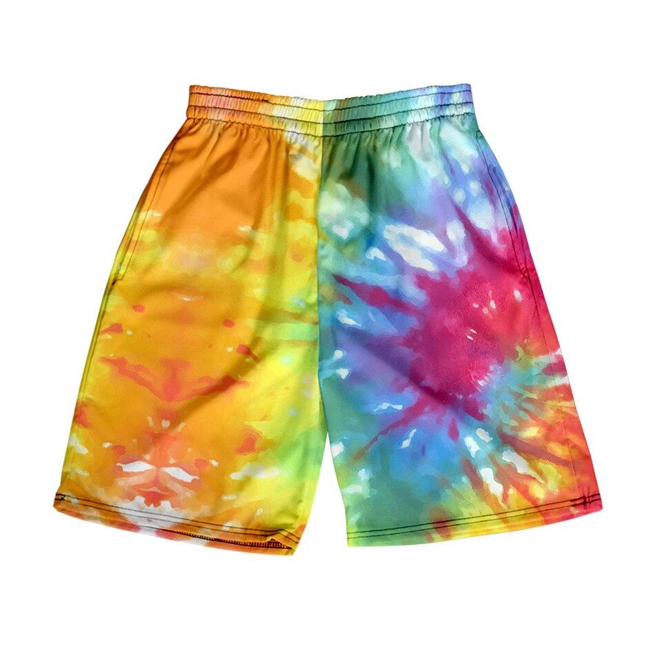 2020 New 3D Tie Dye Loose Sport Shorts Men Women Colorful Psychedelic Summer Kimono Short Pants Hot Sale Sweatpants No Belt