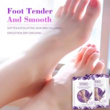3pair=6pc Exfoliating Foot Mask Lavender Baby Peeling for Legs Exfoliator Heels Crack Remove Skin Pedicure Socks EFERO