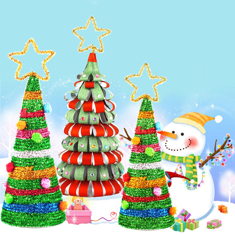 DIY Christmas Tree Homemade Detachable Mini Christmas Tree Ornaments Kids Decorate Gifts Toy Activity 2020