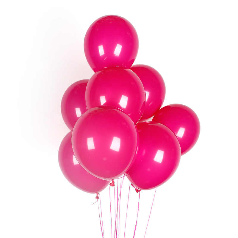 10pcs Rose สีขาวสีดำสีชมพูลูกโป่งวันเกิดงานแต่งงานตกแต่ง Inflatable บอลลูนของเล่นเด็กทารกฝักบัวบอลลูน