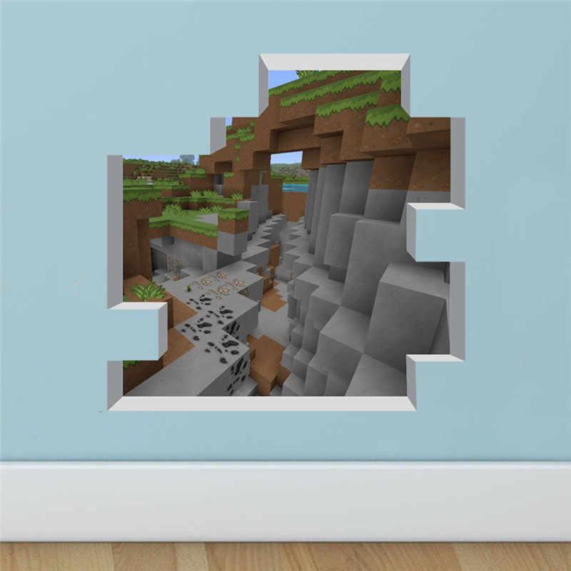 Autocollant Mural en mosaïque 3D vif et populaire | Autocollant de jeu pour chambre d'enfant, affiche murale de décoration pour la maison, affiche murale monde carré