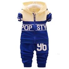 Toddler Tracksuits Jacket-Pants Clothing Baby-Boys-Girls Children Kids Brand Hooded Spring