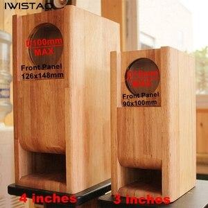 Image 3 - Iwistao Hifi 3 Inch Full Range Speaker Lege Kast 1 Paar Afgewerkte Houten Labyrint Structuur Vaste Panel Voor Buizenversterker