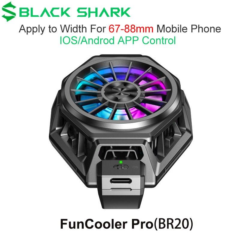 Оригинальный вентилятор Black Shark 4 3 3S Pro 2 Pro для телефонов FunCooler Pro, охлаждающий вентилятор с жидкостью RGB, охлаждающий вентилятор для телефонов ...