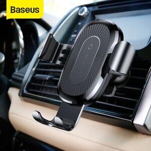Image 1 - 아이폰 X Xr xs에 대 한 Baseus 공기 환기 자동차 무선 충전기 삼성 S9 s8에 대 한 최대 10W 빠른 무선 충전기 자동차 전화 홀더