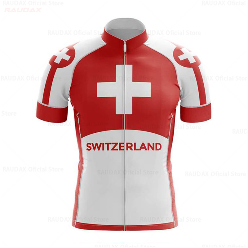 2020 Mens Switzerland National Flag Cycling Jersey Classic White Summer Eco-Friendly Bike Clothing Road Team Bicycle Wear Shirt(China)