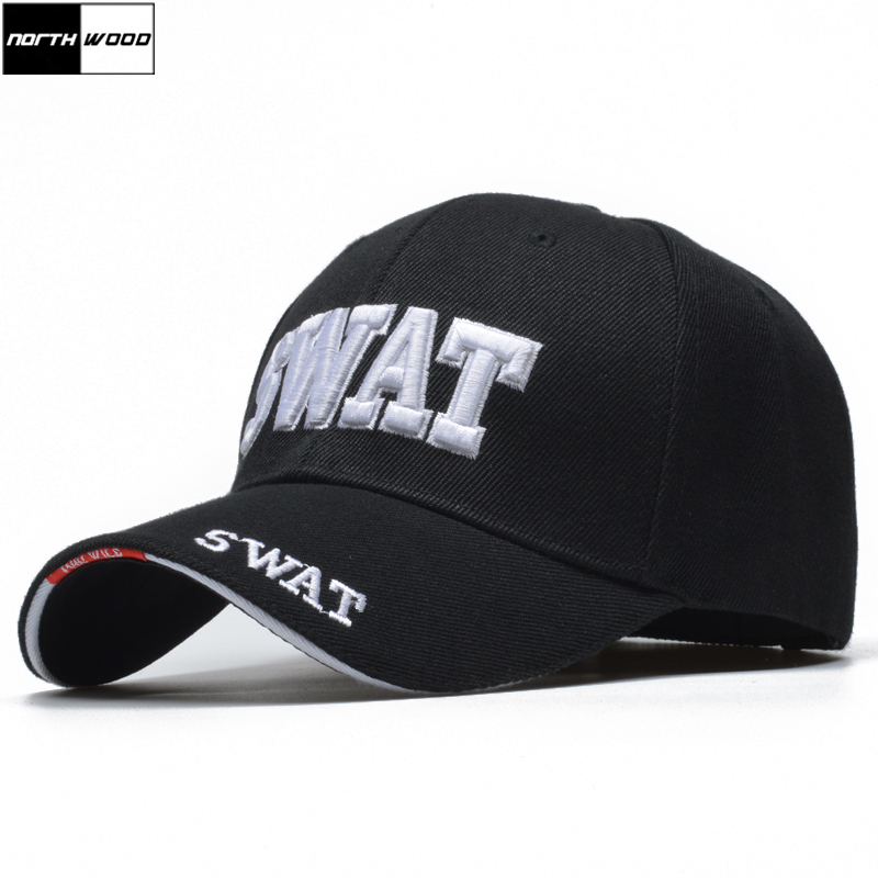 [NORTHWOOD] 2019 Tactical   Cap   Mens   Baseball     Cap   Brand SWAT   Cap   SWAT Hat Snapback   Caps   Cotton Adjustable Gorras Planas Man