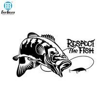 Saygı balık balıkçılık tekne avcılık vinil araba Sticker vinil süslü çıkartmalar araba çıkartmaları aksesuarları