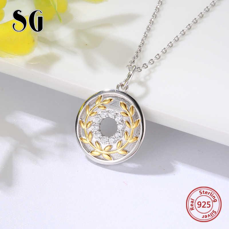 SG moda 925 srebro znak pokoju naszyjnik kobiety biżuteria chain naszyjniki wisiorki prezent dla mamy akcesoria 2019