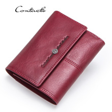 Brand Genuine Leather Women Wallets Short Coin Wallet for Women Female Card Holder Small Carteira Feminina Zipper Money Bag цены