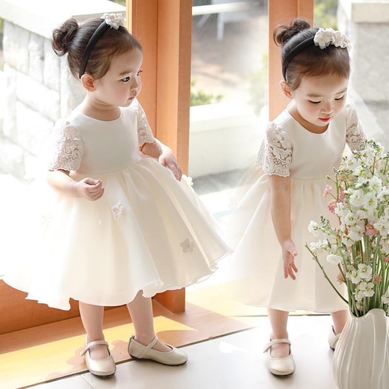 Bebê recém-nascido Meninas Flor Vestido de Princesa