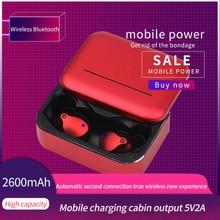 Wireless Bluetooth 50 Binaural Earphones TWS Earbuds Waterproof Earphone HD Stereo Sport Headset with Mic Charging Box