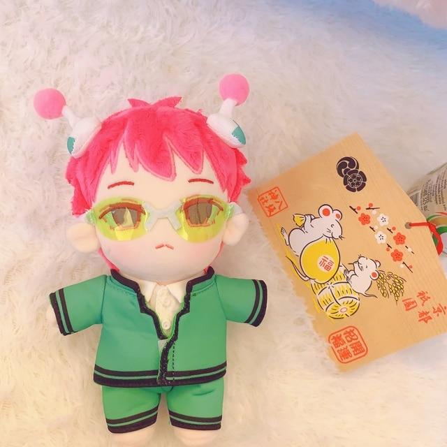Anime The Disastrous Life of Saiki K. Saiki Kusuo Cosplay Cute Plush Stuffed Change Dolls Toy 20cm Doll Plushie Clothes Gift