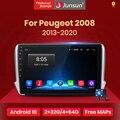 Автомагнитола Junsun V1 pro 2G + 128G Android 10 для PEUGEOT 2008 2013-2020, мультимедийный видеоплеер, навигация GPS, 2 din, dvd