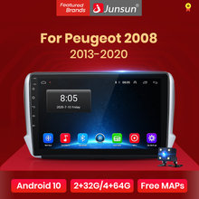Junsun V1 Pro 2G 128G Android 10 Voor Peugeot 2008 2013 - 2020 Auto Radio Multimedia Video speler Navigatie Gps 2 Din Dvd