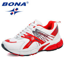 BONA 2020 New Designers Brand Running Shoes Men Sport Shoes Athletic Trainers Walking Sneakers Man Jogging Shoes Zapatos Hombre
