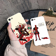 Phone Case Coque For iPhone xr 7 8 6 6S Plus x XS MAX 5 5S Soft TPU Silicone Deadpool Superhero Phone Cover For iPhone 8 7 Plus цена и фото