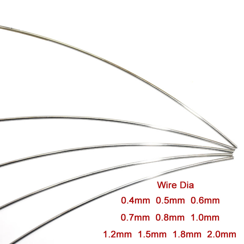 A2 Нержавеющаясталь Рессорная сталь провод Dia 0,4 0,5 0,6 0,7 0,8 1,0 1,5 1,8 2,0 мм DIY аксессуары выберите Длина 1 м 5 м
