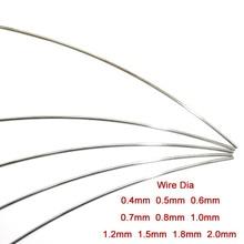 A2 Stainless Steel Spring Steel Wire Dia 0.4 0.5 0.6 0.7 0.8 1.0 1.5 1.8 2.0mm DIY Accessories Select Length 1 Meter 5 Meters
