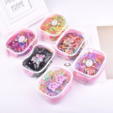 200pcs/bag Child Baby Gum for Hair TPU Disposable Elastics Hair Bands Girls Ponytail Holder Rubber Bands Hair Accessories(China)