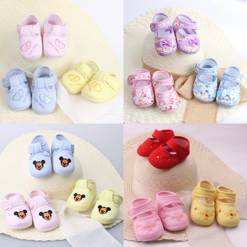 Baby Girl Boy Soft Sole Cartoon Anti-slip Shoes Comfortable Toddler Baby Shoes In Baby First Walk Shoes Toddler Shoes Hot Sale