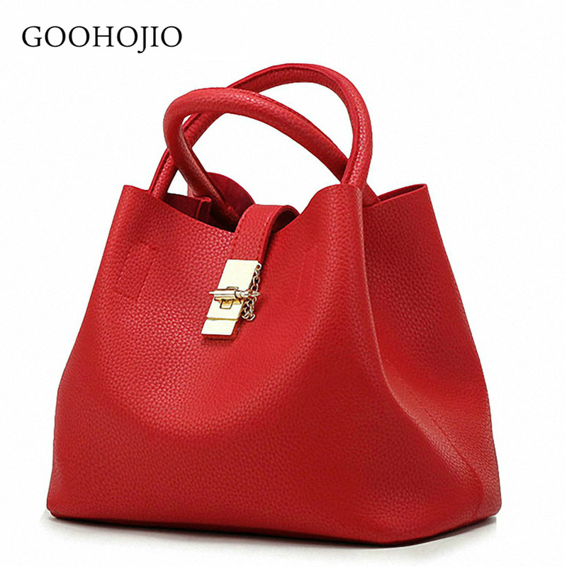 GOOHOJIO 2019 New Women Bag Shoulder Bags Famous Brand Candy  Handbags Female Woman Bag Ladies Crossbody Buckets Messenger Bags