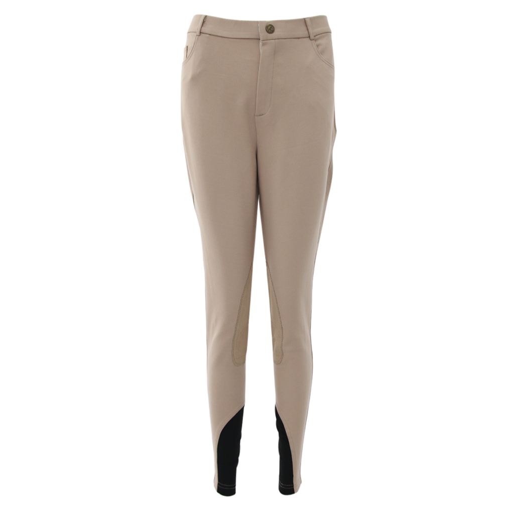 Mens Womens Anti-slip Eco Leather Knee Patch Horse Riding Jodhpurs Full Seat Knee Patch Riding Breeches Pants