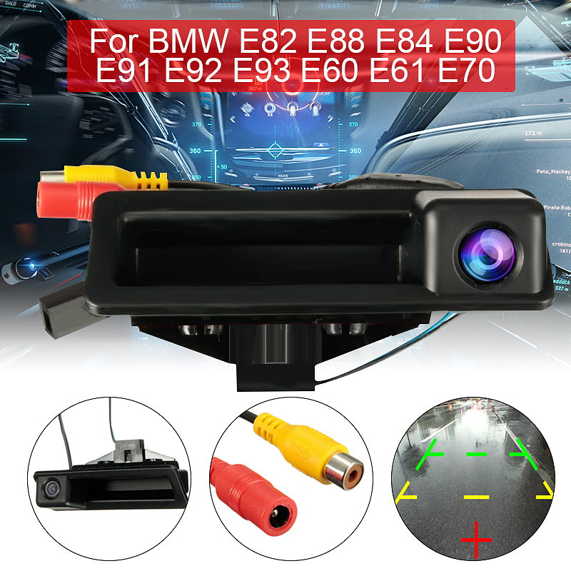 Samochód CCD kamera HD z widokiem z tyłu kamera cofania lusterko wsteczne pokój dla BMW E60 E61 E70 E71 E72 E82 E88 E84 E90 E91 E92 E93 X1 X5